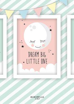 Bild Kinderzimmer Mond Mädchen von Mimirella auf DaWanda.com