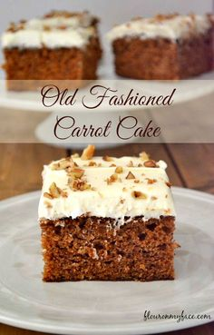 Old Fashioned Carrot Cake recipe is just like grandma made and topped with the best homemade cream cheese frosting. A perfect Carrot Sheet Cake recipe for Easter dessert or when you are craving homemade carrot cake.