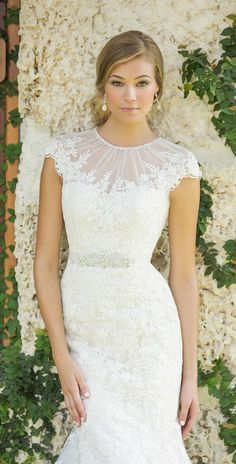 OMG I LOVE this neck line!!!  Allure Bridals - Madison James Collection