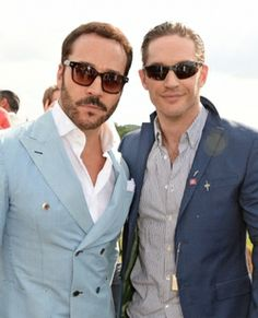 Jeremy Piven (L) and Tom Hardy attend day two of the Audi Polo Challenge at Coworth Park Polo Club on June 2014 in Ascot, England. Beautiful Boys, Beautiful People, Jeremy Piven, Charlotte Riley, British Men, Hot Actors, Hollywood Fashion, Tom Hardy, Fashion Story