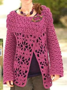 Crochet a cardigan - diagrams at site