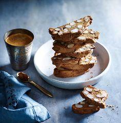 Australian Gourmet Traveller recipe for muscovado biscotti by Dan Lepard. Chef Recipes, Cookie Recipes, Dessert Recipes, Profiteroles, Cannoli, Brownies, Biscotti Recipe, Biscotti Biscuits, Gourmet