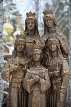 The Memorial dedicated to the Tsar's children is located on the premises of the Ganina Yama church complex where the remains of the imperial family were found. Grand Duchesses Olga, Tatiana, Maria and Anastasia with Tsarevich Alexei, front-row centre Anastasia Romanov, Tatiana Romanov, House Of Romanov, Tsar Nicholas Ii, Cemetery Art, Russian Orthodox, Imperial Russia, European History, Interesting History