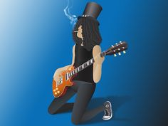 Slash Playing his Gibson designed by Jonathan Wynne. Connect with them on Dribbble; the global community for designers and creative professionals. Bart Simpson, Character Design, Illustrations, Play, Creative, Illustration, Illustrators, Drawings