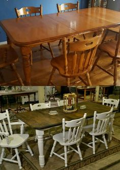 Solid Wood Dining Table Make Over. Well Made, Solid Wood Dining Set Had A