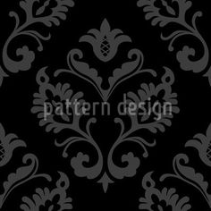 Aramis Black by Martina Stadler available for download as a vector file on patterndesigns.com Surface Pattern Design, Vector Pattern, Vector File, Baroque, Ornaments, Patterns, Block Prints, Christmas Decorations