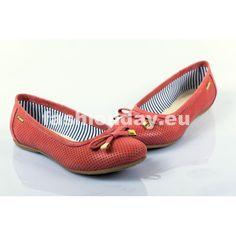 6433651b3b Dámske kožené balerínky červené dierkované DT244 - fashionday.eu
