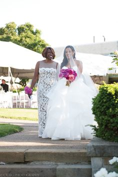 Chic Urban Garden Wedding in Pittsburgh: Tiffany + Jimil Maid Of Honour Dresses, Maid Of Honor, Wedding Dress With Veil, Wedding Dresses, Wedding Hair, Garden Wedding, Dream Wedding, African American Weddings, Floral Event Design