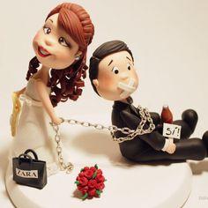 cake topper boda no se salvó www.nanascakes.cr