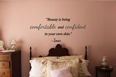 Comfortable and Confident Wall Decal Marble Comforter, You Wake Up, Monday Humor, Wall Quotes, Vinyl Wall Decals, Be Yourself Quotes, All Design, Confident, Farmhouse Decor