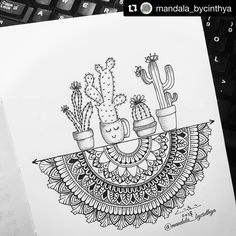 mandala sharing page (i.mandala) photos and videos Doodle Art Drawing, Mandalas Drawing, Zentangle Drawings, Pencil Art Drawings, Zentangle Patterns, Art Drawings Sketches, Drawing Ideas, Easy Mandala Drawing, Mandala Sketch