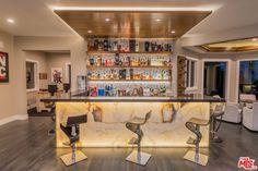 modern home bar area