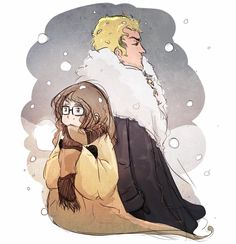 Ophélie et Thorn par Moufff (Manon) que vous pouvez suivre sur son Twitter et sur son blog Les gribouillis