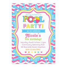 swimming party ideas invitations | this is an adorable invitation for a fun pool party all graphics are ...