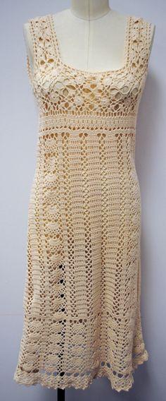 1960's Crochet Tank Dress | Vintage Clothing Sold Items Dresses | VintageVirtuosa.com