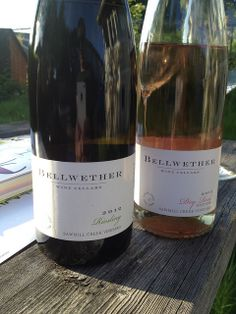 Very cool to try more wines from the Finger Lakes. A light and refreshing Riesling and Pinot Noir Rosé. #flx #flxwine