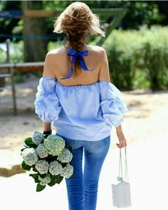 Style inspiration: Off The shoulder Blouse {Cool Chic Style Fashion} Streetwear, Vogue, Street Style, Spring Summer Fashion, Spring Outfits, Dress Up, Cute Outfits, Feminine, Glamour