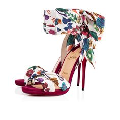 Tres Frais 120 Multi/Figue Crepe satin/Satin/Lurex - Women Shoes - Christian Louboutin
