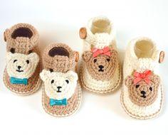 Bear Booties crochet pattern by Matilda's Meadow