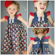 BABY Molly bubble romper dress top and bloomer PDF Sewing