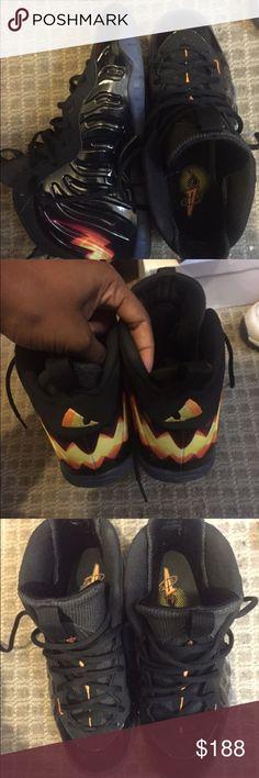 Halloween foamposites Boys size 7y Jordan Shoes Sneakers
