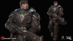 Gears of war ultimate : Marcus Fenix, Heber Alvarado on ArtStation at https://www.artstation.com/artwork/gwlQE