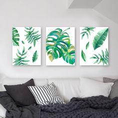 Tríptico Green Leaves.El precioes por los tres cuadros y varía según las medidas. Elegí el tamaño deseado para ver el precio.