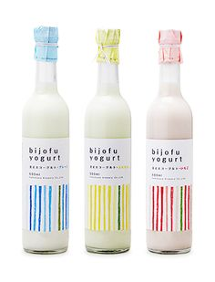 love the pastel color happening with the bottles. very simple design.