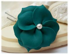 Browse a large selection of Green flower jewelry and matching hair accessories in assorted shades including Peridot, Emerald, Teal, and Olive. Flower Hair, Flowers In Hair, Teal Jewelry, My Favorite Color, My Favorite Things, Teal Flowers, Green Hair, Hair Pins, Image Search