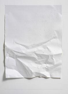 """nicoonmars: """" Stephen Antonakos Untitled, Winter Series 57A, 2008 Crumpled white paper """""""
