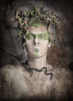 "Self portrait by Jim Lyngvild ""Medusa"" Taken for the photobook ""megalomania""  With Hasselblad."