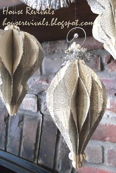 Vintage paper ornaments.  Love it!