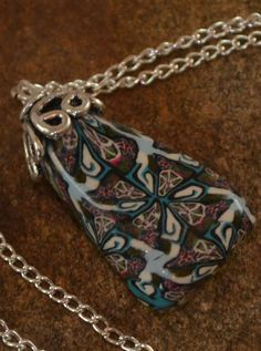 Kaleidoscope  polymer clay pendant  by AbandonedAtticCrafts, $12.50