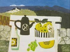 "Painting ""Lunch In The Luberon"" by  Mary Fedden, 1995. Oil On Board"
