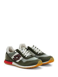 LOTTO LEGGENDA - Sneakers - Uomo - Sneaker in pelle, camoscio e tessuto con suola in gomma. Tacco 25, platform 15 con battuta 10. - BIANCO\VERDE
