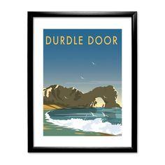Durdle Door, Dorset by Dave Thompson Framed Vintage Advertisement