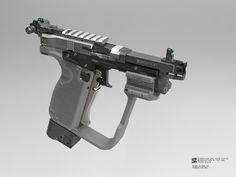 DAL.22 pistol, Jiarui Pan on ArtStation at https://www.artstation.com/artwork/mNbN8