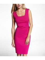 Jessica's pink sheath dress from the dinner party - she wore it with gold bangles.