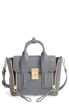 Free shipping and returns on 3.1 Phillip Lim 'Mini Pashli' Leather Satchel at Nordstrom.com. Richly textured leather shapes a compact satchel styled with edgy, exposed-zip gussets and gleaming goldtone hardware. An optional crossbody strap offers chic versatility.