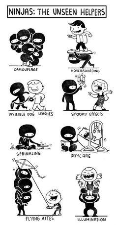 Ninjas: The unseen helpers