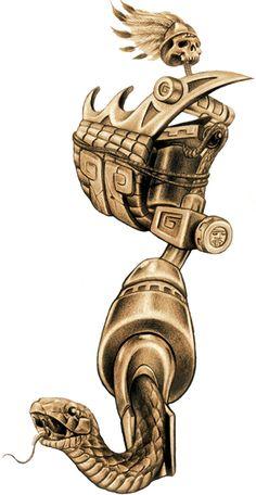 Aztec Tattoo Gun