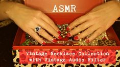 ASMR Vintage Necklace Collection | Soft-Spoken with Vintage Audio Filter...