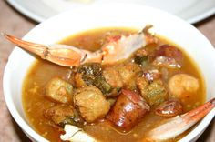 Seafood Gumbo.  Includes video with tips on gumbo cooking from some serious gumbo experts including Alton Brown.