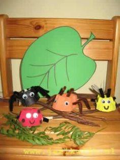 #knutselen met #kinderen: #DIY kriebelbeestjes van een eierdoos
