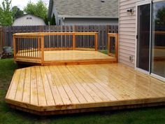 low decks   low raise cedar deck spring cleaning 300x225 Tips for Cleaning Your ...