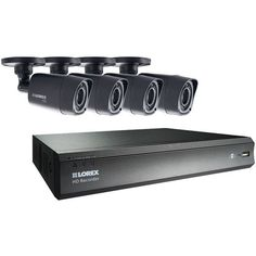 LOREX LHV00081TC4 8-Channel MPX 720p HD 1TB DVR with 4 Weatherproof IR Cameras