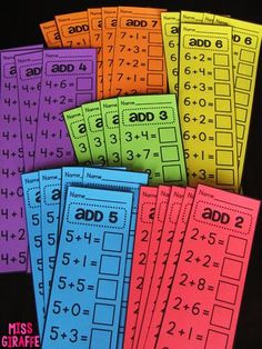 Fact Fluency in First Grade - SO MANY IDEAS!!