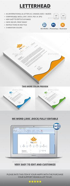 Letterhead Modern, Illustrators and Ai illustrator - letterhead format word