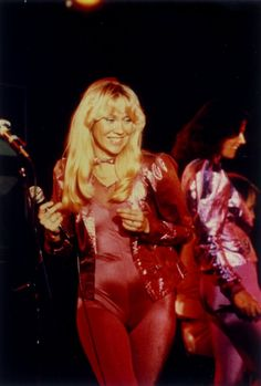 """ABBA """"Voulez Vous"""" costumes in red rhythm - 1979"""
