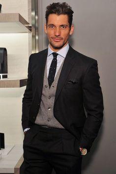 David Gandy London Fashion Weeks Best Dressed party goer (via tatler.com)